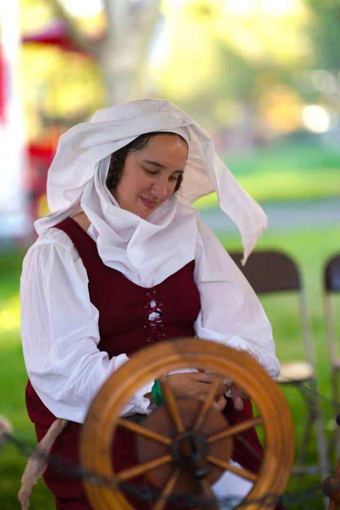 A woman demonstrating spinning