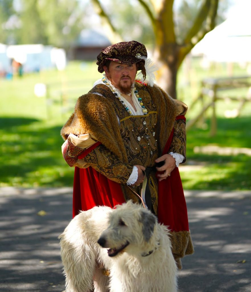 King Henry VIII walking his hound