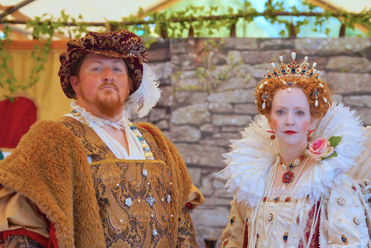 King Henry VIII and Queen Elizabeth