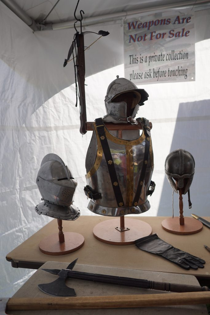 Weapons and armor demonstration booth